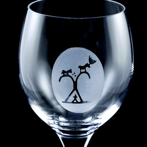 Weinglas - Serie Schamanentrommel