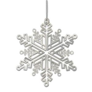 Weihnachtsdeko Schneekristall silber