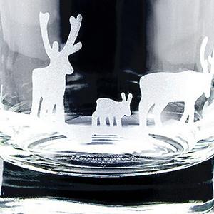 Whiskyglas Älg och Ren, kristall