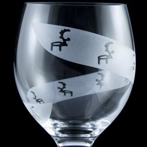Weinglas Spirale