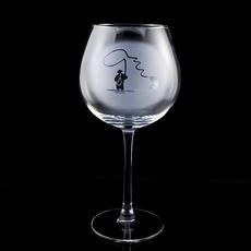 Weinglas Angler