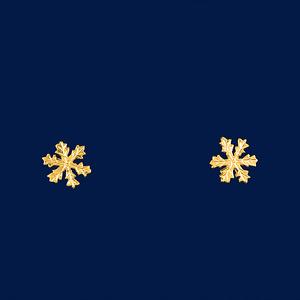 Ohrstecker Schneekristall in Gold