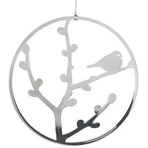 Weihnachtsdeko Gimpel (Dompfaff) silber