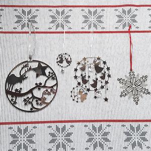 Weihnachtsdeko Rentier silber