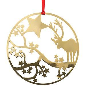 Weihnachtsdeko Rentier gold
