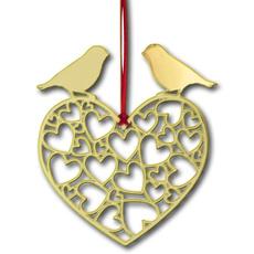 Weihnachtsdeko Herzen gold