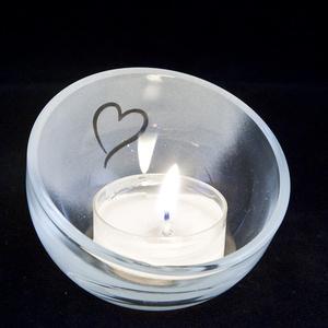 Ljuslykta liten skål Hjärta