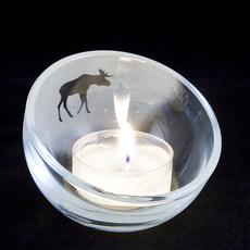 Ljuslykta liten skål Djur