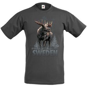 T-Shirt Elch im Wald