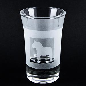 Schnapsglas Dalapferd