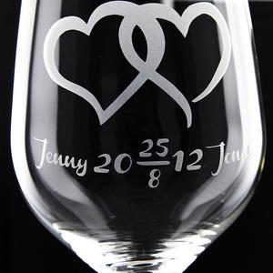 Weinglas Liebe - Hochzeit