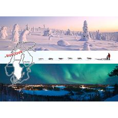 Postkarte 15 Polarkreis Winter
