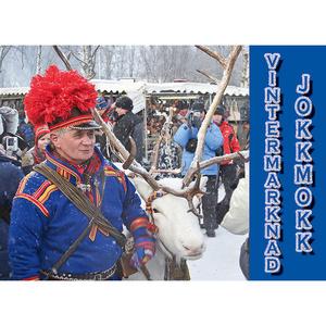 Vykort 11 Vintermarknad Jokkmokk