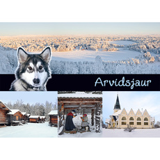 Postkarte 17 Arvidsjaur vinter